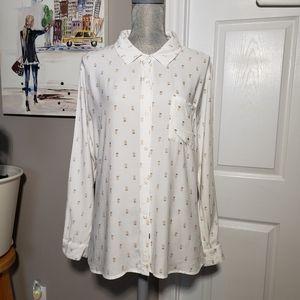 RAILS pineapple print shirt